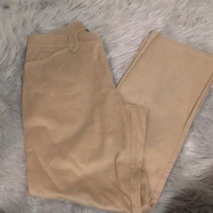 Super soft cotton tan straight leg pants